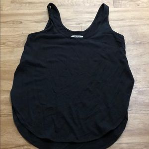 Madewell Black cut out sides tank top